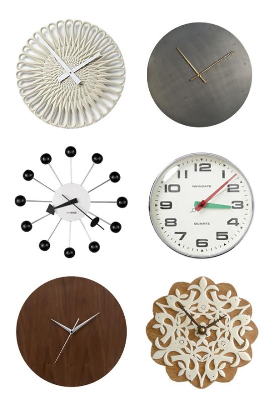 clocks via ohidesignblog